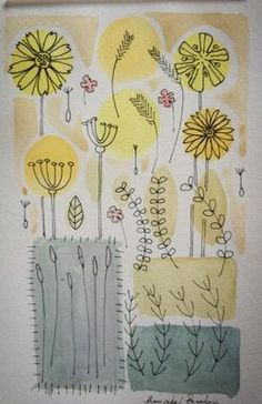 water colour painting - I love how its like colouring outside of the lines.