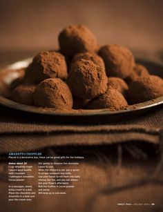 Chocolate Ameretto Truffles. Fast, simple and yummy.