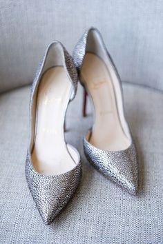Glittering Christian Louboutin Pumps | Brides.com