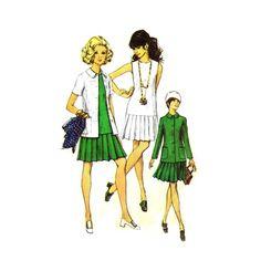 1970s Sleeveless Dress Princess Seam Jacket Simplicity 8693 Vintage Sewing Pattern