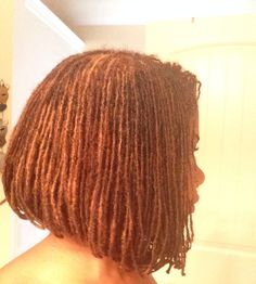 Sisterlocks Bob side-view. Love it!