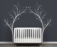 White Twinkle Tree Wall Decal
