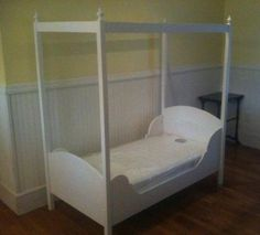 If I have a little girl sheu0027s getting this for her toddler bed! & Toddler canopy bed plans and instructions. Easier than you think ...