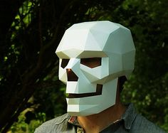 Skull mask easy to make and perfect for Halloween