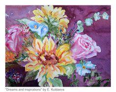 """Dreams and inspirations"" watercolor work by Elnura Kuldaeva"