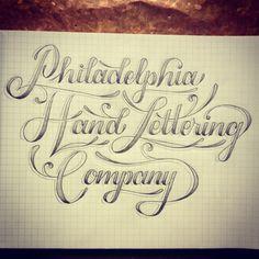 Philadelphia Hand Lettering Company / hand lettering / illustration / typography