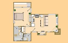 """The floor plan of the 1/1.5 """"Shy Thunder""""."""