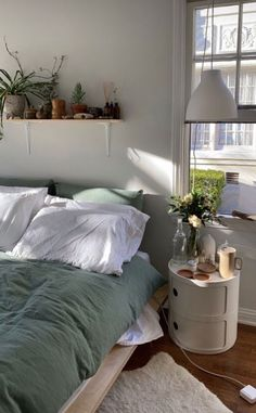 Room Ideas Bedroom, Bedroom Inspo, Apartment Bedroom Decor, Decor Room, Room Decorations, Apartment Interior, Bedroom Colors, Dream Rooms, Dream Bedroom