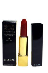Chanel Rouge Allure Luminous Satin Lip Colour lipstick 08 Brilliant 3.5g/0.12oz by CHANEL. $47.90. Chanel Rouge Allure Luminous Satin Lip Colour 08 Brilliant. New in Box. Lips / Lipstick. **No U.S. Sale Tax** 3.5g/0.12oz. Chanel Rouge Allure Luminous Satin Lip Colour 08 Brilliant A fabulous lipstick that is comfortable to wear and has a lustrous colour.