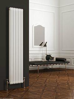 Reina Colona Vertical 2 Column Radiator High x Wide - White Quality designer radiators at fantasic prices Upright Radiators, Tall Radiators, Home Radiators, Bathroom Radiators, Vertical Radiators, Column Radiators, Kitchen Radiators, Small Basement Remodel, Basement Remodeling
