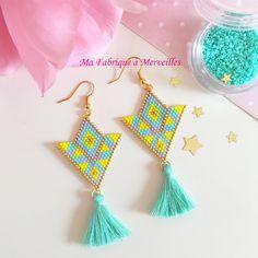 "Boucles d'oreilles en perles Miyuki ""Lilia"""