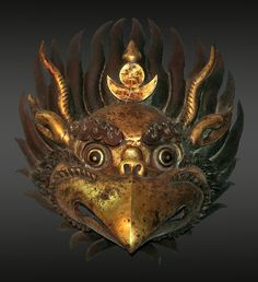 maybe as a miniature? Garuda mask repousé