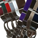 Solid Color Button Suspenders - 1.5 Inch Wide
