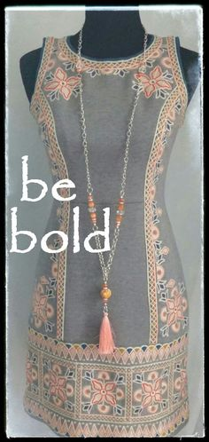 Orange Tassel Chain Necklace  Extra Long Pendant by GreenSynergy