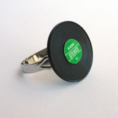 Miniature Vinyl Record Ring