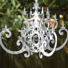 Looking for a mobile that's a little out of the ordinary? Love this chic, 3D acrylic chandelier mobile!