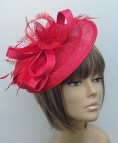 New Bespoke Poppy Red Hat Mother Of The Bride/Groom Weddings Races Ladies Day