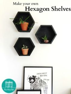 diy hexagon boxes for under 5$ a piece - details on www.rowhousenest.com