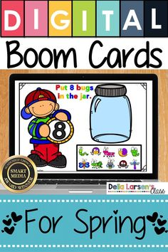 New idea for counting. Make the adjustment to kindergarten easier with Boom Cards. Fun ideas for Preschool and kindergarten readiness. Help get your student ready for kindergarten and back to school with a fun game on an iPad or a Chromebook. Be ready for Google Classroom, Math Classroom, Classroom Ideas, Kindergarten Curriculum, Kindergarten Counting, Interactive Learning, Interactive Board, Math Activities, Addition Activities