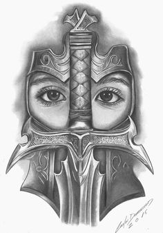 Tattoo Sketches, Tattoo Drawings, Art Sketches, Tattoo Ink, Guerrero Tattoo, Celtic Tattoos, Norse Tattoo, Armor Tattoo, Viking Warrior Tattoos