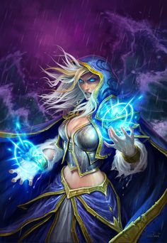 Jaina Proudmoore (mage class) full Hearthstone artwork I like playing this character