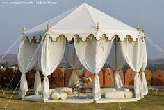 gorgeous white tent