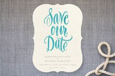 Painted Simplicity Save The Date Cards by Laura Bolter Design at minted.com