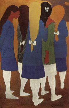"""""""Léon Spilliaert (Belgian, 1881-1946) - Girls with white stockings (Meisjes met witte kousen), N/D """""""