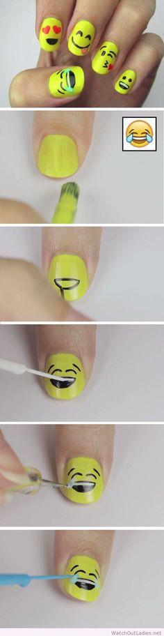 Very funny nail art idea