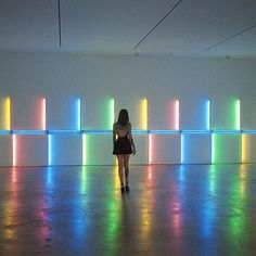 Dan Flavin Installation at Menil with @vauxdevil