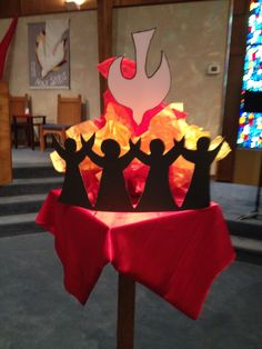 Pentecost display at Northwest Christian Church (Disciples of Christ)
