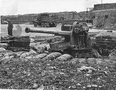 German gun near Omaha Beach