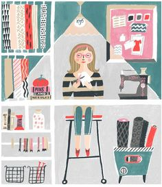 Pins & Needles illustrations by Danielle Kroll