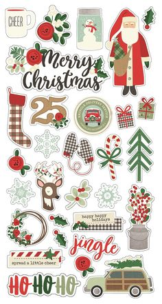 Show off your holiday cheer with these Puffy Stickers from the A Cozy Christmas Collection by Echo Park. There are 31 puffy stickers included in the shapes of trees, houses, snowflakes and mittens. Christmas Doodles, Noel Christmas, Christmas Design, Christmas Crafts, Christmas Decorations, Christmas Fonts, Christmas Stencils, Christmas Clipart, Christmas Images
