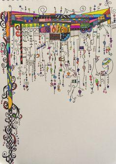 line drawing tattoo Doodle Art Designs, Doodle Patterns, Zentangle Patterns, Doodle Art Drawing, Zentangle Drawings, Art Drawings, Zentangles, Kunstjournal Inspiration, Art Journal Inspiration