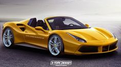 Design : Ferrari 488 GTB Spider