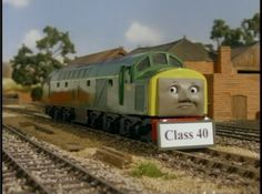 "VERY rare! Class 40 was an unnamed diesel that appeared in only one episode of Thomas the Tank Engine.  He is based off a Deltic engine. This name card can be seen on the tape ""Thomas and the Special Letter"" before the music video at the end of the tape."