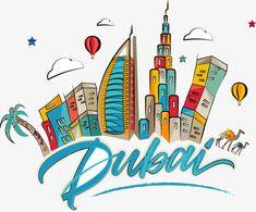 Cartoon Dubai city building, Cartoon, Vector, Dubai PNG and Vector Dubai Map, Dubai City, Abu Dhabi, Dubai Things To Do, Dubai Nightlife, Uae National Day, Dubai Houses, City Drawing, Dubai Skyscraper