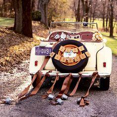Rustic fall getaway car
