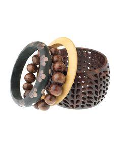 accessori, wooden bracelet