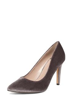 bfa7b22f1c0 Wide Fit Grey Velvet  Emily  Court Shoes