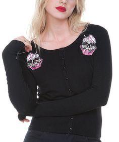 Look what I found on Jawbreaker Black Skull Cupcake Cardigan by Jawbreaker Sweaters And Leggings, Cardigan Sweaters For Women, Sweater Cardigan, Cardigans, Rockabilly Fashion, Retro Fashion, Rockabilly Clothing, Skull Cupcakes, Black Skulls