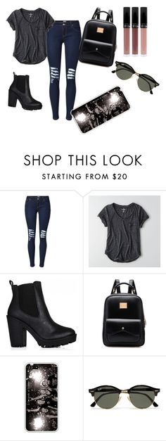 """5sos concert outfit"" by bookworm6004 on Polyvore featuring American Eagle Outfitters and Ray-Ban"