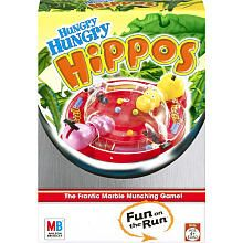 Hungry Hungry Hippos Travel - game pieces are contained in a dome so little sister won't eat them!