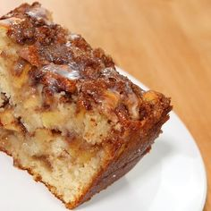 This country apple fritter bread is absolutely the best I have ever had! Apple Desserts, Apple Recipes, Baking Recipes, Delicious Desserts, Cake Recipes, Dessert Recipes, Bread Recipes, Vegetarian Desserts, Amish Recipes