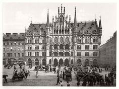 Historic B&W Photos Of Munich, Bavaria, Germany In The 19th Century | MONOVISIONS
