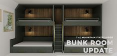 Emily Henderson Mountain Fixer Upper Second Level Kids Bunk Room Bunk Beds Opener With Copy