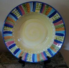 "Crate & Barrrel Mariachi Serving/Pasta 12"" Ceramic Bowl LMA11 by Lamas Italy"