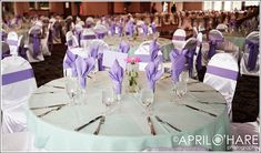 Purple Wedding Ideas for Tables | Big Fat Colorado Italian Wedding - April O'Hare Photography