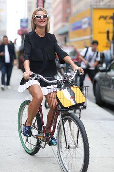 bike chic. NJ in NYC. #NatalieJoos